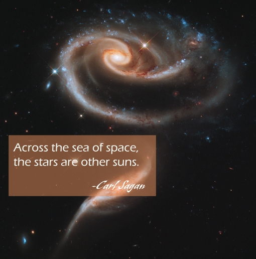 Carl Sagan-Across the universe the stars are other suns.